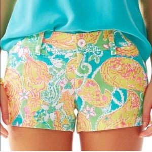 Lilly Pulitzer Walsh shorts, size 2